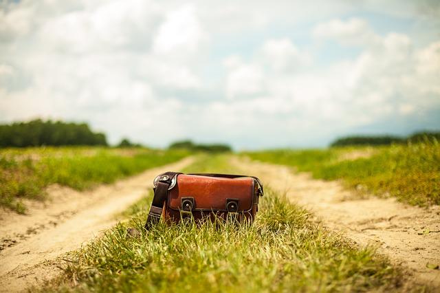 kabelka na cestě